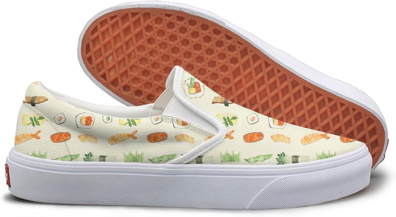 Lalige Japanese Sushi Women Casual Canvas Slip-on Walking shoes