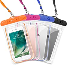 F-color Waterproof Case, 4 Pack Transparent PVC Waterproof Phone Pouch Dry Bag for..
