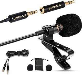 میکروفون Lavalier ، کندانسور Omnidirectional Lavalier MIC برای ضبط مصاحبه YouTube (مناسب برای آیفون / اندروید / ویندوز / دوربین)