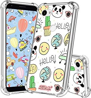 Google Pixel 3a Case,Yespure Google Pixel 3a Clear Case for Women Girls Soft Silicone Rubber TPU Cover Slim Fit Protective Phone Case for Google Pixel 3a - Cartoon Panda