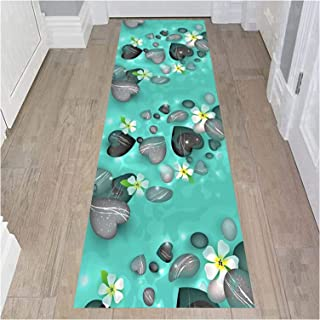 HAIPENG 3D Runner Rug for Hallway, Washable Entrance Mat, Non Skid Backed Area Rugs for Kitchen Entryway Corridor Stairwa...