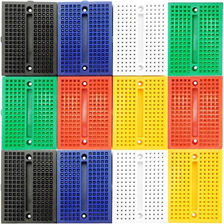 LampVPath [12Packs] 170 Points Mini Small solderless breadboard Compatible for Proto Shield
