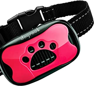 Best DogRook Rechargeable Dog Bark Collar - Humane, No Shock Barking Collar - w/2 Vibration & Beep Modes - Small, Medium, Large Dogs Breeds - No Harm Training - Automatic Action Without Remote - Adjustable Review