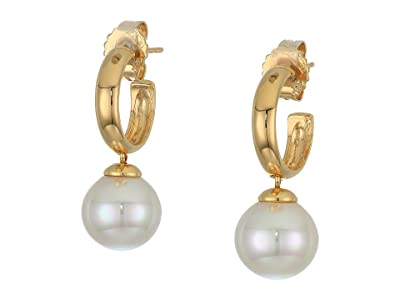Majorica Lyra Drop Earrings (White) Earring