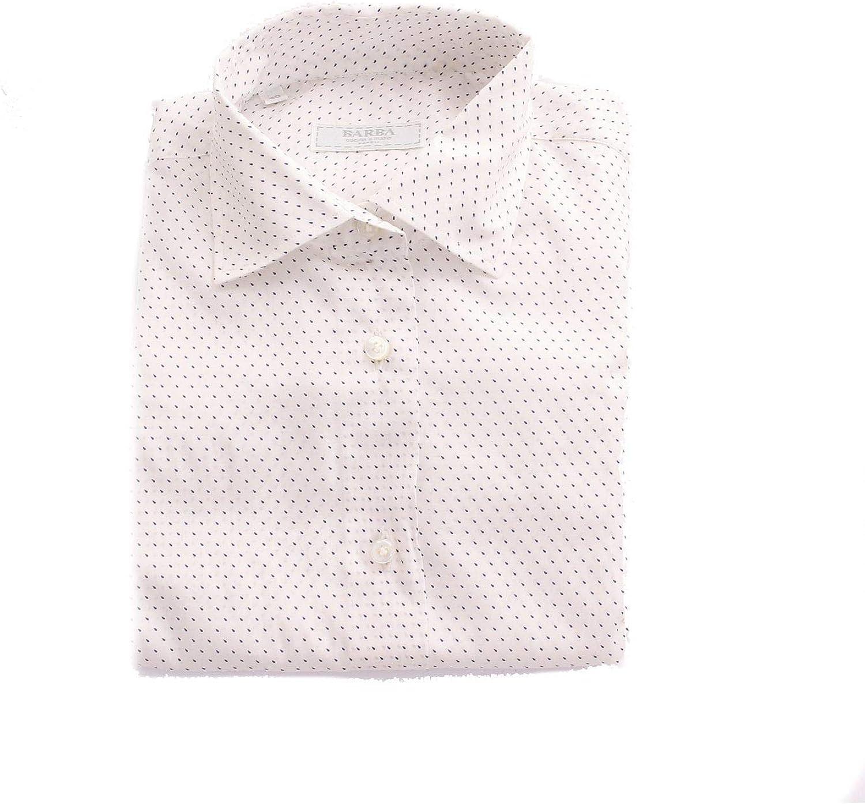 BARBA Women's FANTASIA21WHITE White Cotton Shirt