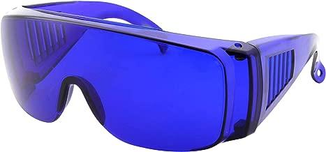 Golfball Finder Glasses - Blue Lens Cover Over Sunglasses - Wear Over Prescription Eyeglasses