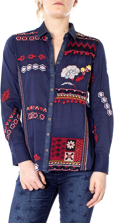 Desigual Long Sleeve Shirts Woman Cam Peru 19SWCW45