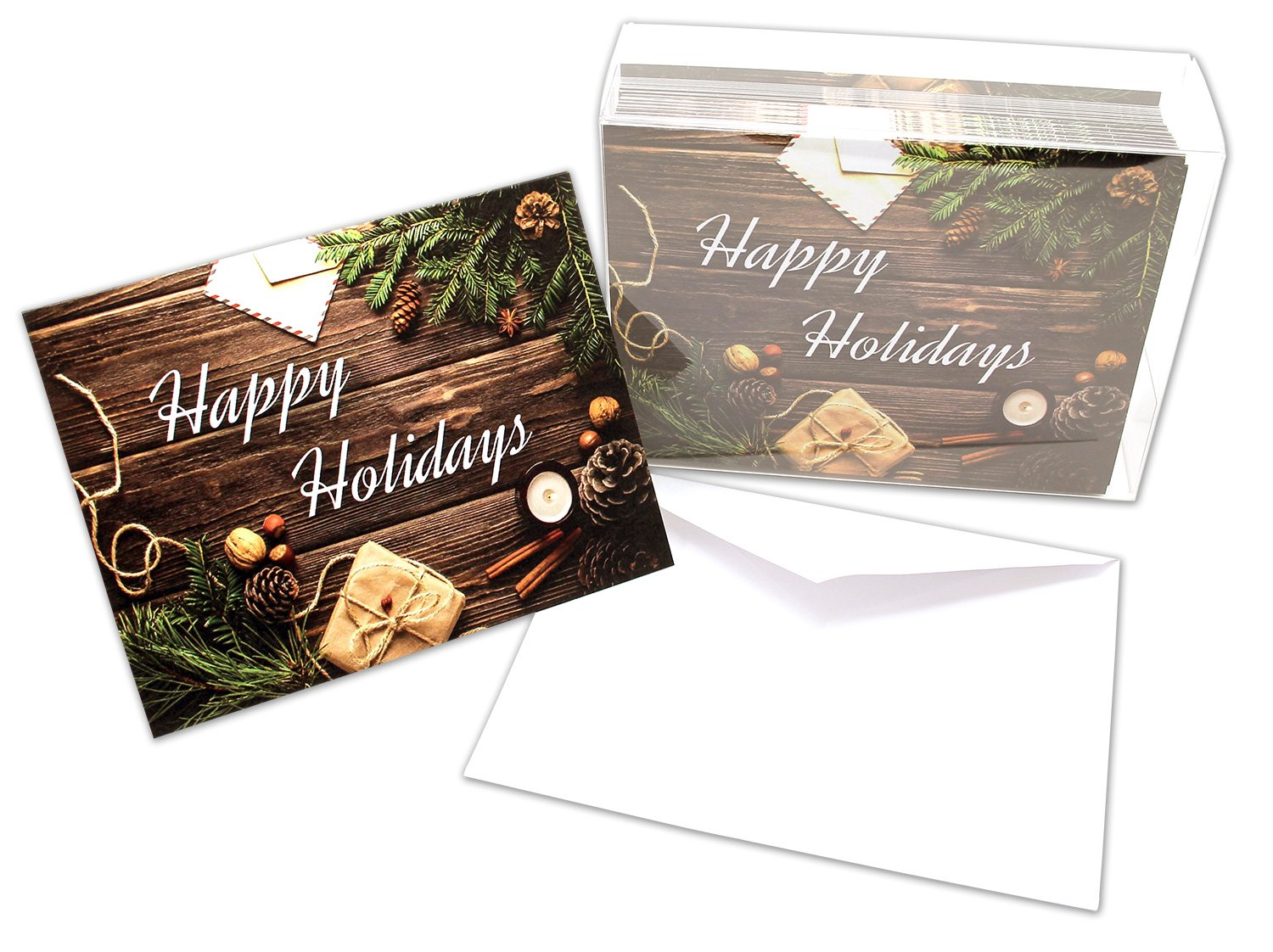 Blank Inside Funny Festivus Holiday Greeting Cards Boxed Set of 8 Holiday Notecards with Recycled Envelopes