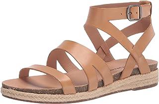 Lucky Brand Footwear Women's GLAINA Flat Sandal, STONE, 6.5