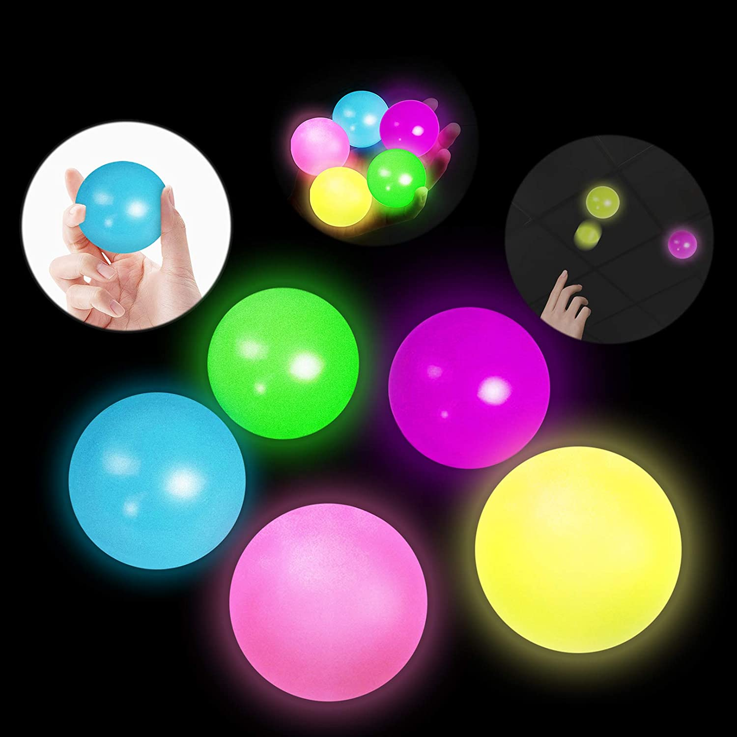 Hot Max 53% OFF Bee Gobbles New item Sticky Balls Lumi Ceiling Ball Wall