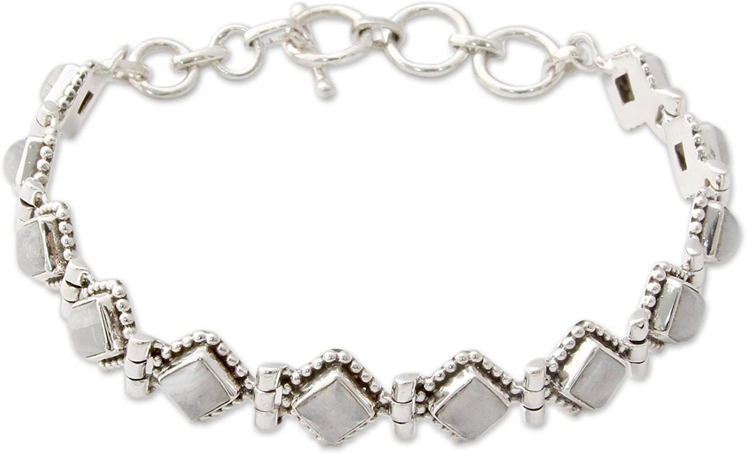 NOVICA Moonstone - Rainbow .925 Silver Max 62% OFF Sterling At the price of surprise Bracelet Tennis