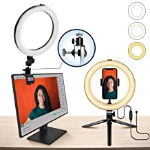 """$24 » 10"""" Ring Light MACTREM LED Light Ring with Tripod, Clamp & Phone Holder for YouTube Video, Makeup, Selfie, Photography, Li..."""