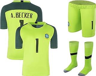 MUSSU Soccer Brazil Team Goalkeeper Allison Becker - Short Sleeve Jersey Adult Sizes Suit