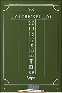 Viper Chalk Scoreboard: Cricket and 01 Dart Games, Green