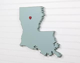 Louisiana State Shape Wood Cutout Sign Wall Art. 17