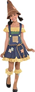 Suit Yourself The Wizard of Oz Scarecrow Costume for Girls, Includes a Dress, a Belt, Knee Socks, and More