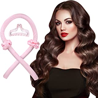 SOPHIE LENA Heatless Hair Curlers For Long Hair ,No Heat Silk Curls Headband You Can To Sleep In Overnight, Curling Ribbon...