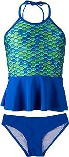 9fdcad2bb71f5 Fin Fun Mermaid Women's Scale Peplum Tankini Swimsuit Set – Mermaidens  Swimwear
