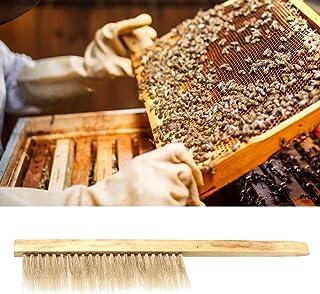 Pssopp Bienenbesen Imker Besen Handfeger Bienenbürste aus Holz Reinigungsbürste Bienenstockbürste Imker Werkzeug Bienenstock Reinigungswerkzeug Ausrüstung