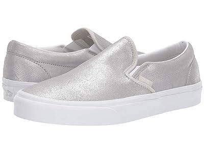 Vans Classic Slip-Ontm (Silver/Silver) Skate Shoes