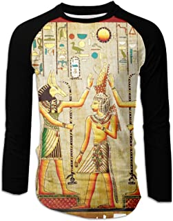 Papyrus Old Natural Paper From Egypt Men Front Single Print Casual Long Sleeve T-Shirt Tee