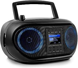 auna Roadie Smart Boombox - Radio Inteligente con Internet / Dab+ / FM, Reproductor de CD, Equipo estéreo, Puerto USB, MP3...