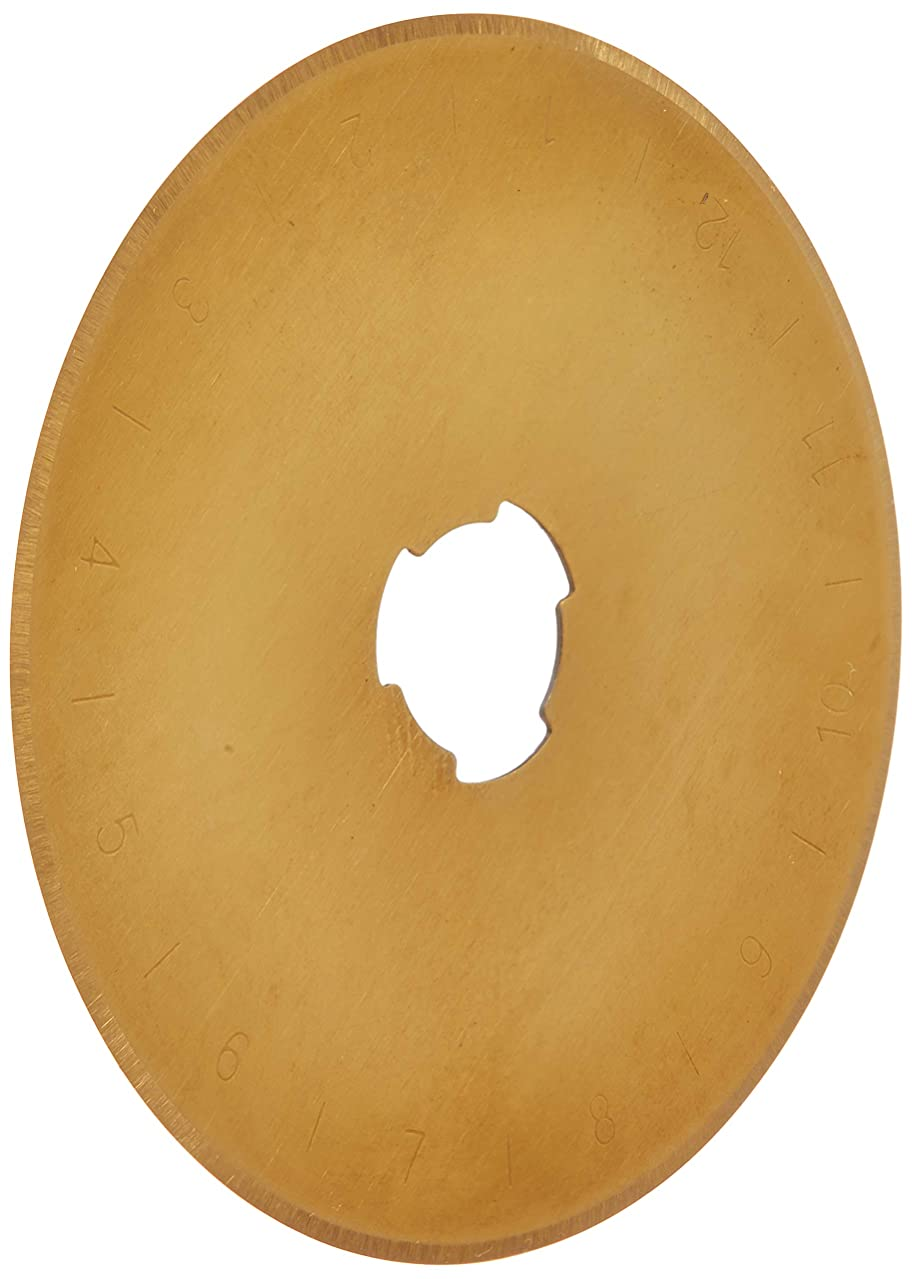Euro-Notions Roll The Gold! Titanium Coated Rotary Cutting Blade, 45mm