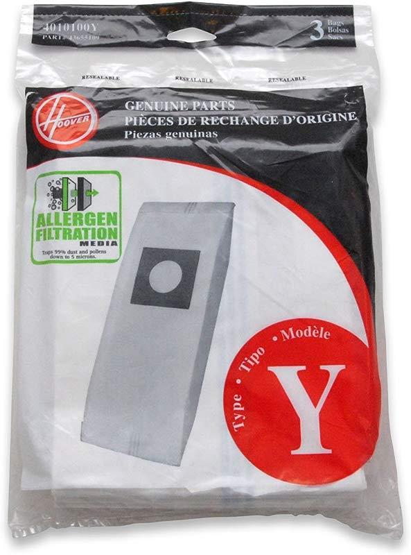 Hoover Type Y Allergen 3 Pack 4010100Y 3PK Y Allerg Bag White