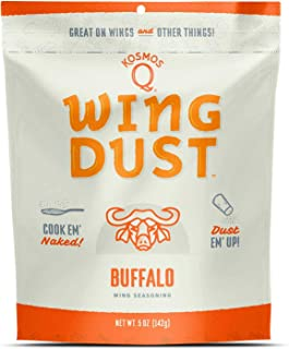 Kosmos Q Buffalo Wing Dust | Chicken Wing Seasoning | Dry BBQ Rub Spice | 5 oz. Bag