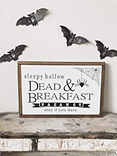 Silver8847 Sleepy Hollow Sleepy Hollow Sign Sleepy Hollow Dead and Breakfast Halloween Sign Halloween Decor Sleepy Hollow Sign