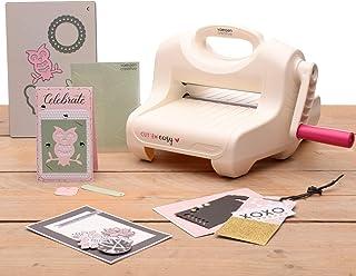 Vaessen Creative Cut ˈEm Easy Kit de Démarrage Machine de Découpage et Gaufrage A5, Blanc/Rose