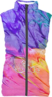 Rainbow Rules Be Creative Every Day Mens Puffer Vest Bodywarmer Gilet