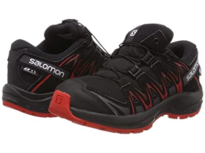 Salomon Kids Xa Pro 3D Cswp (Little Kid/Big Kid) (Black/Black/High Risk Red) Kids Shoes
