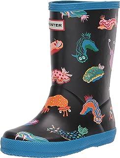 Hunter Kids Girl's First Classic Sea Monster Print Boots (Toddler/Little Kid) Blue Bottle 6 Toddler