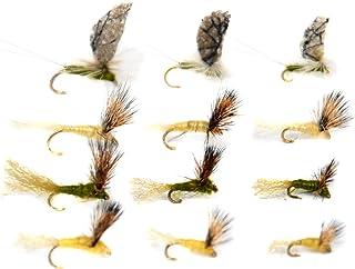 Forellenfliegenfischen Outdoor Planet All-Time Favorites Forellen-Sortiment Trockenfliegen//Nymph//Caddis//Mayfly//Attractor//Nassfliegen