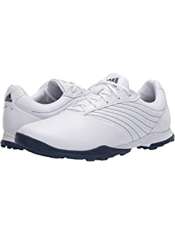 아디다스 여성 골프화 adidas Golf Adipure DC2,Footwear White/Tech Indigo/Silver Metallic