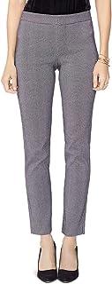 NYDJ Womens Textured Printed Ankle Pants B/W