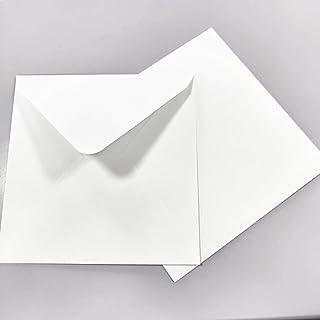 110 g//mq 16 x 16 cm 100 buste quadrate di lusso 160 x 160 mm colore: bianco