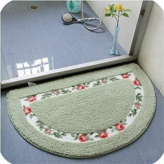 Bathroom Rug,Tapete para Banheiro,Microfiber Bathroom Carpet,Non Slip Pink Blue Red Oval Bath Mat,Soft Floor Mat,7,About 40x60cm