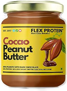 Flex Protein Premium Peanut Butter 100% Natural with no Added Salt, Sugar or Oils 1 KG (Dark Chocolate 500g)