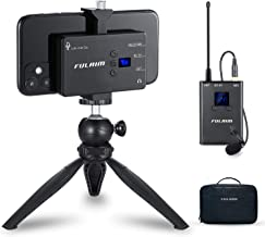 FULAIM MX11 Wireless Lavalier Microphone System for iPhone DSLR Camera Android Cell Phones, UHF 20-Channel Wireless Lapel ...