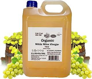 ORGANIC White Wine Vinegar (Spanish) - De La Rosa 5 Liter - Vegan, Gluten-Free, Kosher   Great for salads, dressings, mari...