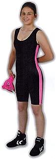 Matman Women's Pink Side Stripe Wrestling Singlet
