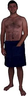 Puffy Cotton Terry Velour Cloth Spa Body Wrap/Towel Wrap for Men - Navy Blue
