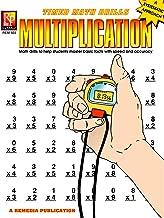 Remedia Publications REM503 Multiplication Timed Math Drills Book, 0.1