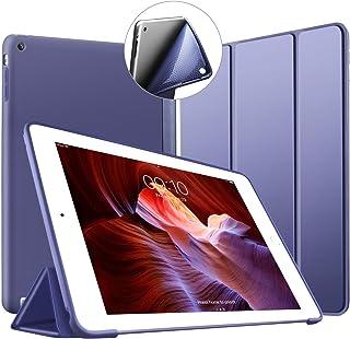 VAGHVEO Funda para iPad 2 / 3 / 4, Ultra Slim Protectora Silicona Smart Cover [Auto-Sueño/Estela] Cubierta Trasera de silicona suave TPU Case para Apple iPad 2, iPad 3, iPad 4 Tableta, Azul Marino