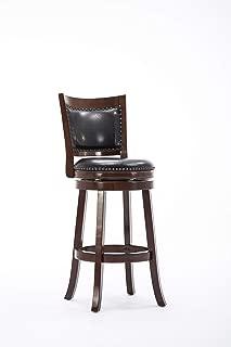 Boraam Bristol Bar Height Swivel Stool, 29-Inch, Cappuccino