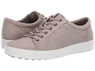 ECCO Soft 7 Plaited Lace-Up (Moon Rock) Men