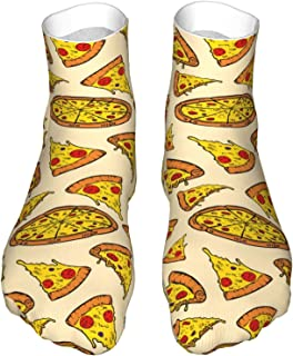 hulili, Calcetines deportivos para hombre, pizza, unisex, suaves, para correr, senderismo, senderismo, caminata