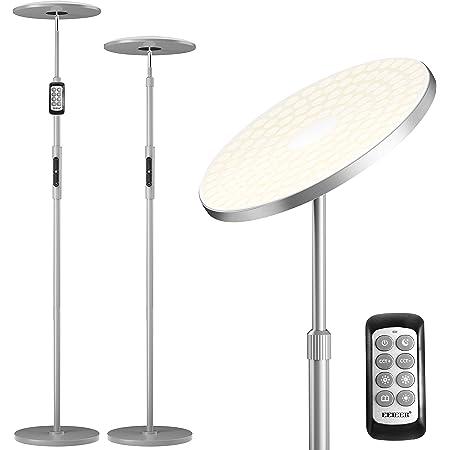 Lampadaire Sur Pied Salon, EEIEER 30W 3000lm Lampadaire LED sur Pied 154LEDs Lampe sur Pied Moderne à LED avec Poteau Rétractable, Luminosité Réglable Lampadaire Chambre Dimmable 3000K à 6000K
